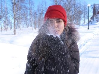 Beso de nieve en Kiruna (Laponnia sueca)