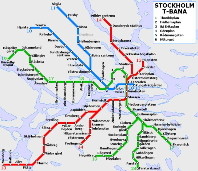 mapa metro estocolmo