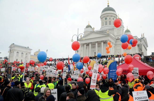 people-demonstrate-against-unemployment-benefit-cuts-by-the-finnish-government-in-helsinki-finland-february-2-2018-reuters-tuomas-forsell
