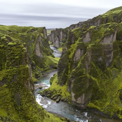 Cañón de Fjaðrárgljúfur, Islandia-- Serey Morm